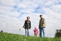 Famille avec la chéri Photo libre de droits