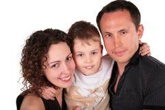 Famille avec la verticale de fils Images libres de droits