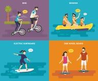 Famille avec la vie d'active d'enfants Images stock