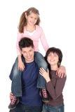 Famille avec le descendant Photo stock
