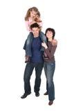 Famille avec le descendant Photographie stock libre de droits
