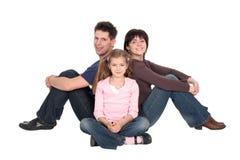 Famille avec le descendant Photos stock