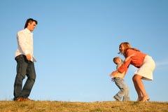 Famille avec le garçon Photographie stock libre de droits