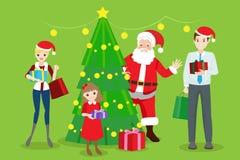 Famille avec Noël Photo libre de droits