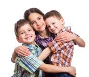 Famille avec trois enfants ensemble Photo libre de droits