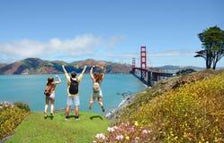 Famille ayant l'amusement en voyage de vacances d'été Images stock