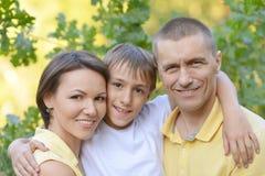 famille ayant le temps gentil Photo libre de droits