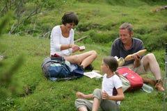 Famille ayant un pique-nique image libre de droits