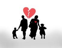 Famille cassée illustration libre de droits