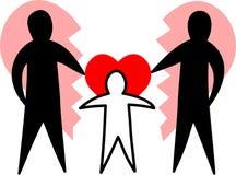 Famille cassée/parents affectueux/ENV Images stock