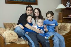 Famille chanceux photographie stock