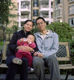 Famille chinoise photo stock
