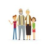 Famille - composition plate moderne colorée en illustration illustration de vecteur