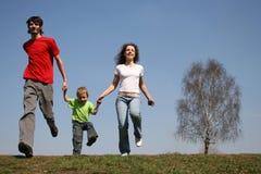 Famille courant Image libre de droits