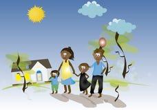 Famille d'Afro Photo libre de droits