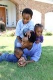 Famille d'Afro-américain Photographie stock