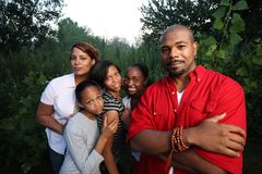 famille d'afro-américain Photo stock