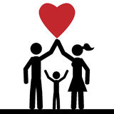 Famille d'amour Image stock