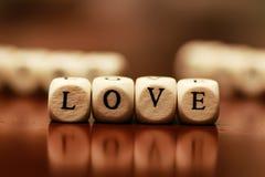 Famille d'amour de cube en textes Images libres de droits