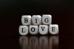 Famille d'amour de cube en textes Images stock