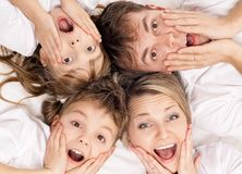 Famille d'amusement Photographie stock libre de droits