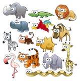 Famille d'animal de la savane. Images libres de droits