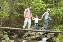 famille d'aventure Photo libre de droits