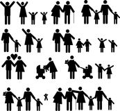 Famille 2 d'icônes Photo libre de droits
