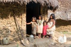 Famille d'Indien de Wiwa Images stock