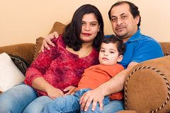 Famille d'Indien est Image libre de droits