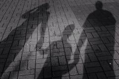 Famille d'ombre images libres de droits