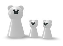 Famille d'ours blanc Photos stock