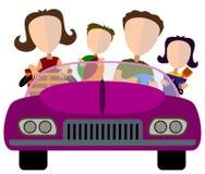 Famille dans le véhicule Images libres de droits
