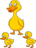 Famille de bande dessinée de canard Image libre de droits