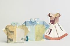 Famille de billets de banque Images libres de droits