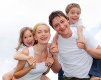Famille de bonheur Photo stock