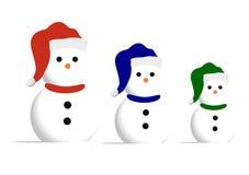 Famille de bonhomme de neige illustration stock