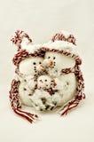 Famille de bonhomme de neige Photos stock