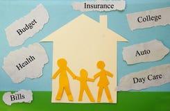Famille de budget image libre de droits