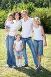 Famille de cinq séries au néon de durée photos libres de droits