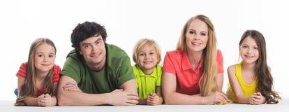 Famille de cinq séries au néon de durée Image stock