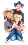Famille de cowboy Photo stock