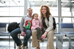 Famille de déplacement Photo libre de droits