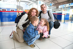 Famille de déplacement Images libres de droits