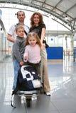 Famille de déplacement Image stock
