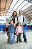 Famille de déplacement Photos stock