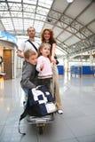 Famille de déplacement Photos libres de droits