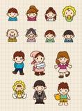 Famille de dessin animé Images libres de droits