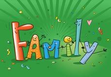 Famille de dessin animé illustration de vecteur