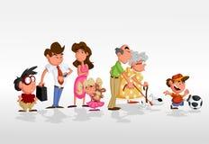 Famille de dessin animé Photo stock